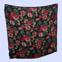 Club 7 Echo 100% Wool All Over Floral Chintz Fringed Scarf