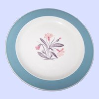 "Susie Cooper England Hand Painted Pink Campion Floral Themed 9  "" Plate Underglazed  2394"