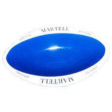 Vintage Advertising Dish  MARTELL Cognac Brandy  Bristol Founded 1652 England