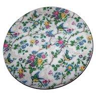 "Floral Bird Chintz BARKER BROS Royal Tudor Ware "" Lorna  Doone ""  Cake Plate Server"
