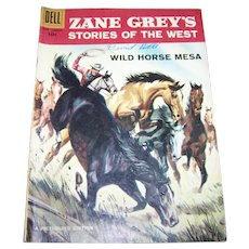 Dell Zane Grey's Stories of the West June-August Picturized Edition 1958 Not Graded