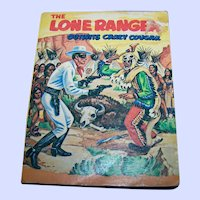 VtG Soft Cover Big Little Book The Lone Ranger Outwits Crazy Cougar  By George S. Elrick A Whitman Book