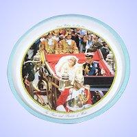 Vintage Souvenir Tin Litho Tray Royal Wedding 29 July 1984 Prince & Princess of Wales
