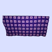 What A Pretty Home Decor Accent Hand Crochet  Purple and Pink Granny Square Blanket