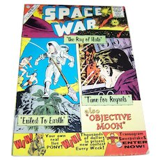 "Space War "" the ray of hate"" Charlton Comic Book # 5 10C 1960 Ungraded Sci-Fi  Ditko Cover"