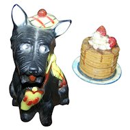 Reliable Plastic Scottie Dog Figural Coin Bank Made in Canada