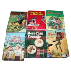 Lot Of 6 VTG Whitman Hard Cover Illustrated Children's Books Zorro  Spin & Marty and More
