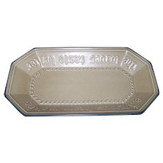 Pfaltzgraff Yorktowne Joyous Heart Rectangular Bread Basket Platter Dish 528 USA