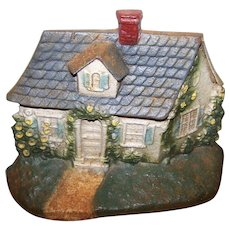 Heavy Painted Cast Iron Cottage Themed Door Stop John Wright  USA Donsco INC