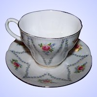Royal Albert Bone China Teacup & Saucer Set Minuet Floral Theme