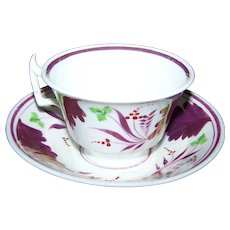Lovely  Vintage Lustre Ware Tea Cup & Saucer Bowl Style Home Decor Accent