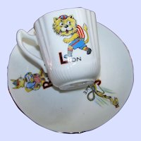 Sweet Child's Set Bone China Queen Anne England Animal Themed Demi-Tasse Cup Saucer Set