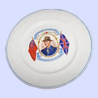 Collectible Royalty Souvenir  21. 1. 1936 KING Edward  VIII Accession Portrait Plate