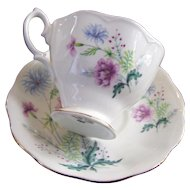 Beautiful Royal Albert Floral Themed Tea Cup / Teacup & Saucer Set MI England