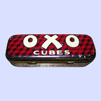 Advertising Hinged  Tin Litho OXO Bouillon Cubes Tin By Appointment to His Majesty The King
