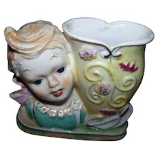 Hand Decorated Shafford  Ceramic Head Vase Japan  SB/204