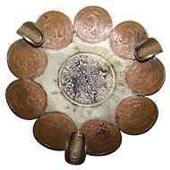 Vintage 1960-70's Era Mexiccanos Centavos coin Ashtray