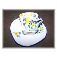 Floral Motif Tea Cup & Saucer Sutherland  China Made In England