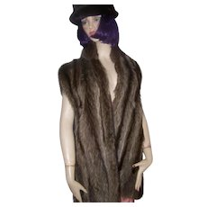 Lovely Quality Ladies Raccoon Fur Vest by Grace Furs Custom Designed Canada SZ Petite LARGE