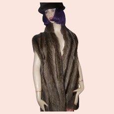 Lovely Quality Ladies Raccoon Fur Vest by Grace Furs Custom Designed Canada SZ Petite LARGE