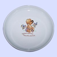 Collectible Eaton Dept Store Mascot Punkinhead Bear  Child's Bowl Rideau Pottery Canada