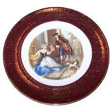 Cabinet Plate Cries of London Sweet Oranges  Wood & Sons MI England Alpine White English Ironstone