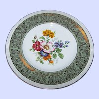 Solian Ware  Simpsons ( Potters ) LTD Cobridge England Gold Guilded Mixed Floral Themed Plate