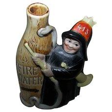 Schafer & Vater FireWater Fireman Souvenir Tippler Figural Flask St. John