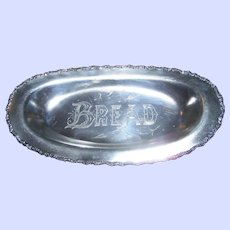 A  Vintage Special Hard White Metal  Bread Tray by Standard Silver Company TORONTO