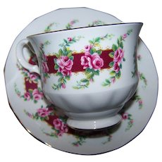 Pink Rose Floral Themed Teaa Cup & Saucer Set  Queen Anne  Bone China Made In England