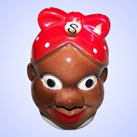 A Vintage Single Collectible  Salt  Spice Shaker Black Americana Aunt Jemima Japan