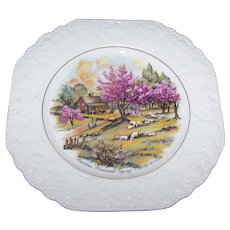 American Homestead Spring  by Currier & Ives Lord  Nelson Pottery Hand Crafted in England