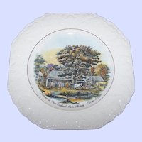 Decorative Plate Autumn in New England Cider Making  by Currier & Ives  Lord Nelson Pottery England