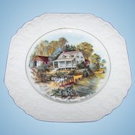 Decorative Plate American Homestead Summer by Currier & Ives  Lord Nelson Pottery England  Hand Crafted