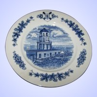 10 Inch Travel Souvenir Plate Historical  Site Old Town Clock Halifax Nova Scotia  MI England