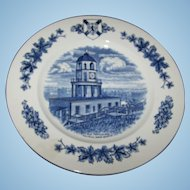 10 Inch Travel Souvenir Plate Historical  Site Old Town Clock Halifax Nova Scotia  MI England