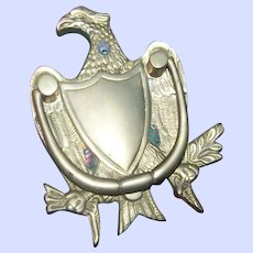 Brass Eagle Bird  Home Decor Accent Metalware Door Knocker