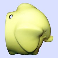 Collectable Lord Nelson Pottery Yellow  Earthenware Elephant String Dispenser Home Decor Accent