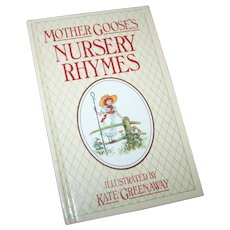 Children's Hard Cover Small Book Illustrated by Kate Greenaway Mother Goose's Nursery Rhymes