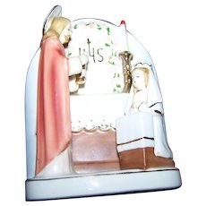 Ceramic First Communion Roman Catholic Religious Souvenir Collectible  Wall Mount or Counter Figural