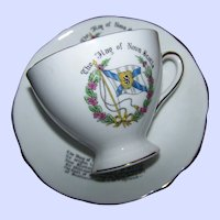 The Flag of Nova Scotia Teacup & Saucer Gladstone Bone China England