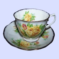 Royal Albert  Yellow Tea Rose Floral Tea Cup & Saucer Made in England