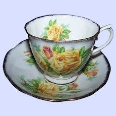 Royal Albert  Yellow Tea Rose Floral Tea Cup & Saucer Made in England