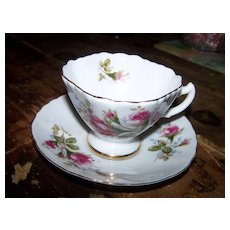 Westville Fine China Rose Floral Theme Tea Cup & Saucer Set Japan