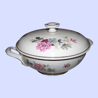 Hutschenreuther  Arzberg Bavaria Germany Covered Vegetable Serving Bowl Tureen  Floral  Theme Evelyn