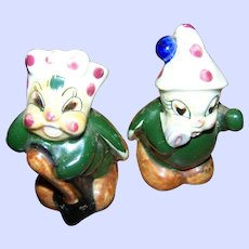 Cute Anthropomorphic Lady Bug Salt & Pepper Spice Set Hand Painted