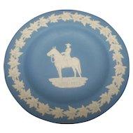 Blue Jasperware 4.5 Inch RCMP Wedgwood Plate Royal Canadian Mounted Police 1873-1973