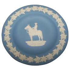 Blue Jasperware 4.5 Inch RCMP Wedgwood Plate Royal Canadian Mounted Police 1873-1973