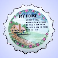 Small 6 Inch Decorative Motto Ware Ceramic Wall  Plaque My HOUSE