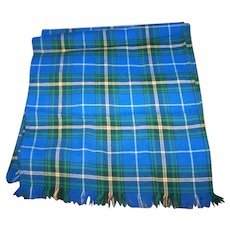 Vintage Nova Scotia Tartan Bonda Textile Ltd Fringed Wool Scarf